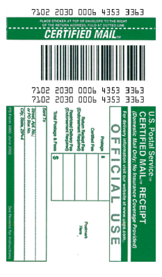 How to create barcode for Certified Mail PS Form 3800 with Barcode ...