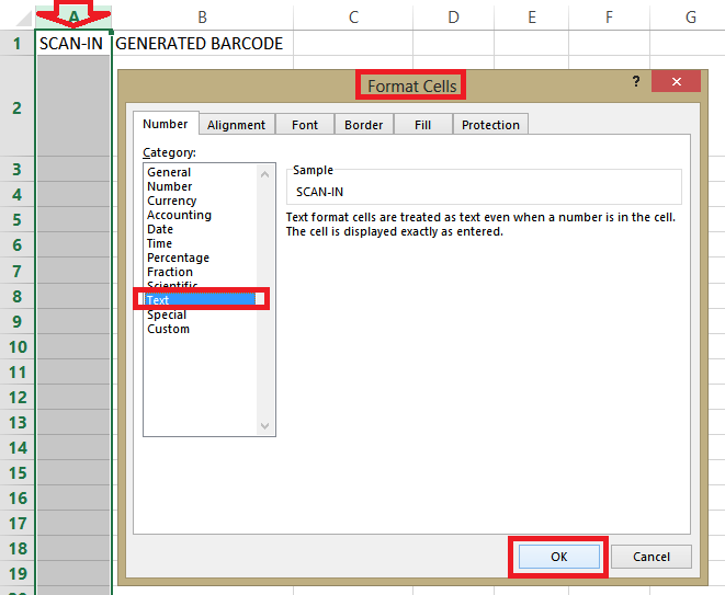 How To Setup An Excel Sheet For Scanning And Instant Barcode Generation