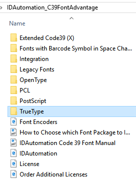 How to install the Code 39 Package for Windows