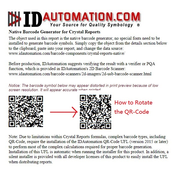 How to Rotate the QR-Code?